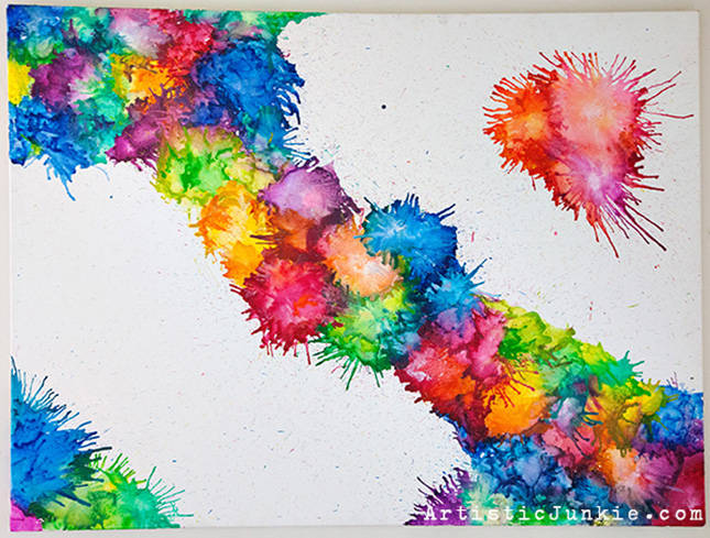 Crayon Abstract Art