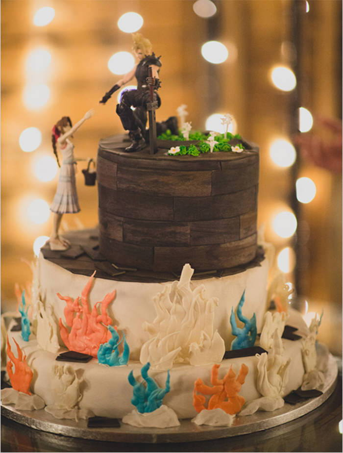 Nerd-vana Wedding Cake
