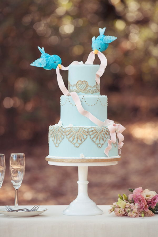 Modern Cinderella Wedding Cake
