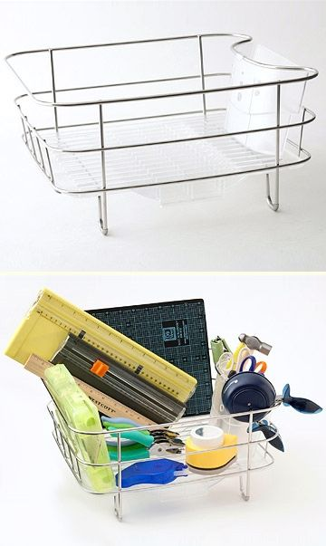 Dish-Drying Rack Can be Used as Tool Corral