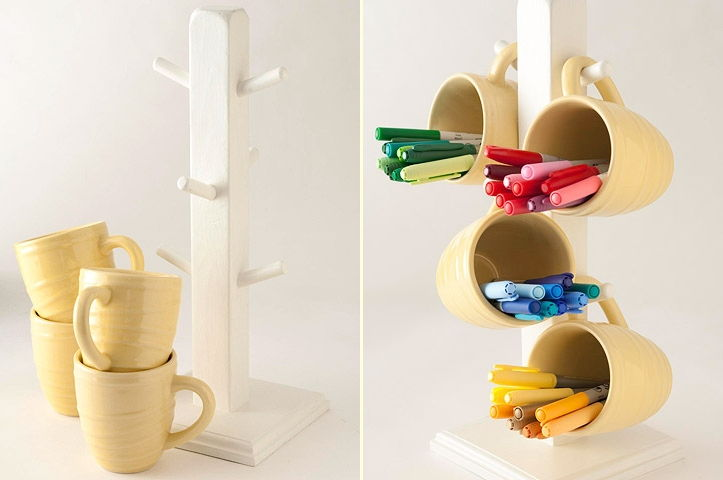 Use Mug Tree for Pen or Marker Tool Storage