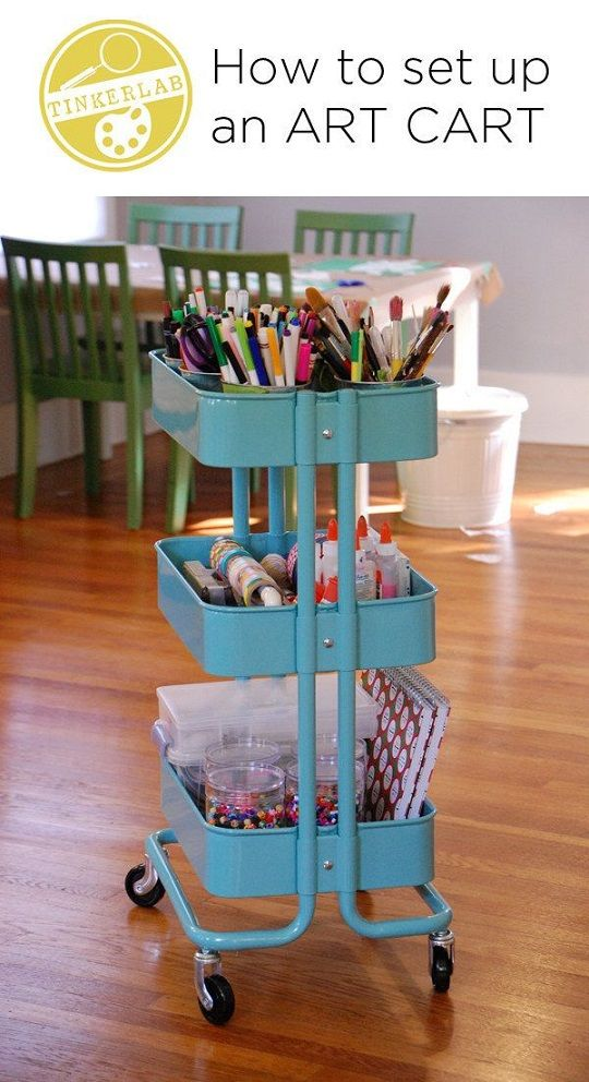 Make an Art Storage Cart