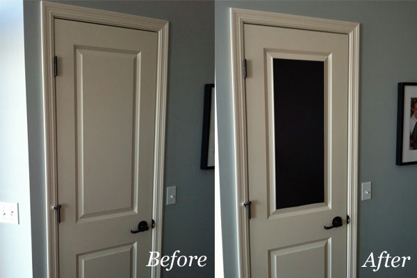Easy Chalkboard Door