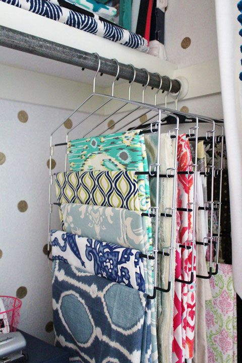 Hang Fabrics on Multi-Wrung Hangers