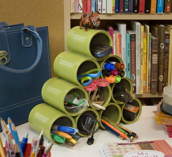 Stack Up Can Desk Organizer