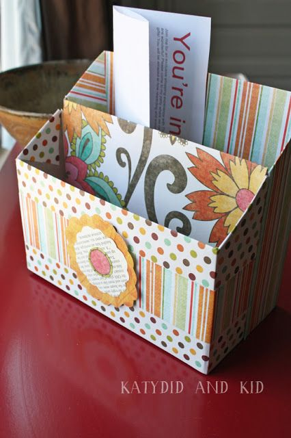 Cereal Box Stationary Organizer