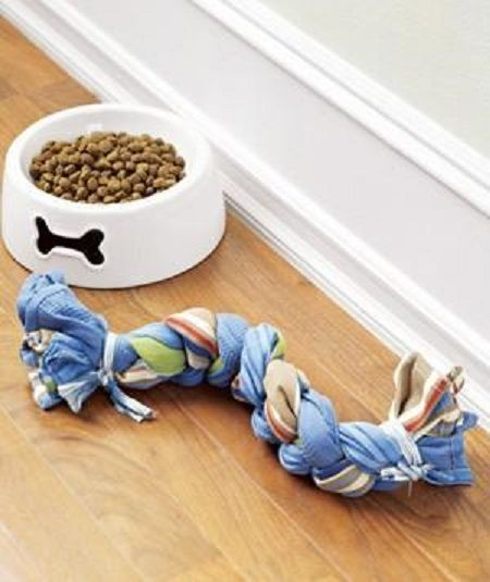 Make a Dog Toy from a Dish Towel