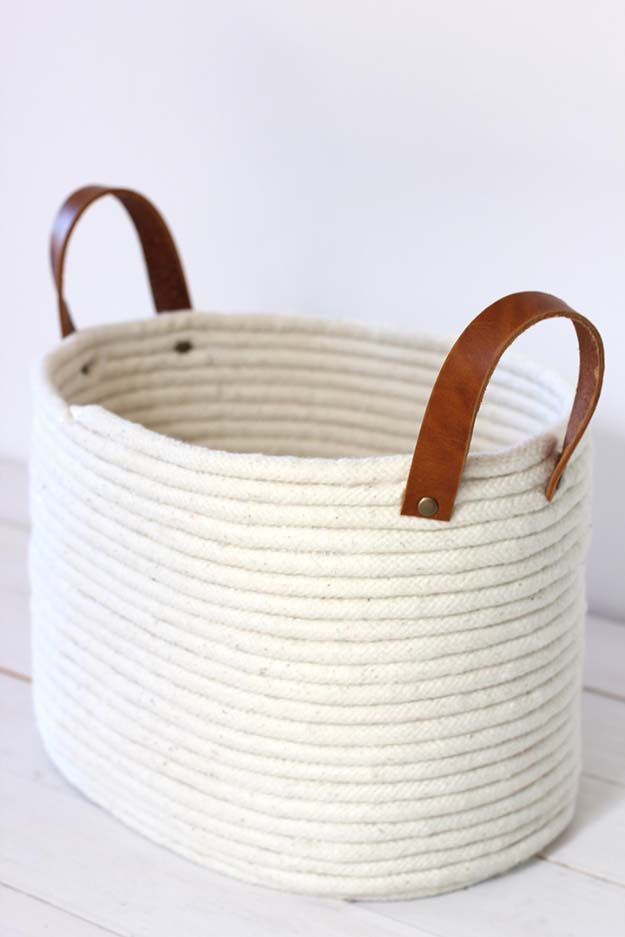 No-Sew Rope Coil Basket