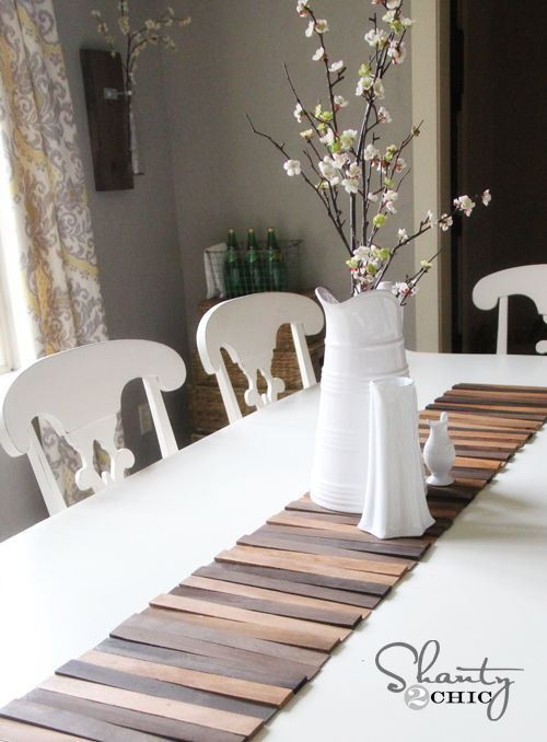 Wood Shim Table Runner