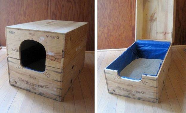 21 Upcycled Wine Case Litter Box & 30 Ingenious DIY Solutions to Hide Your Petu0027s Litter Box u2013 Page 5 ... Aboutintivar.Com