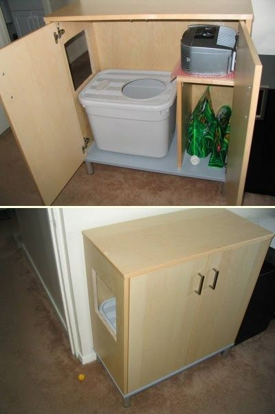 30 Ingenious Diy Solutions To Hide Your Pet S Litter Box