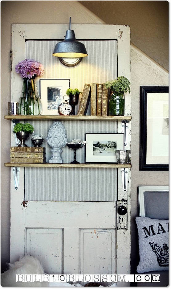 Ideas For Old Doors 27 amazing old doors and windows decor ideas home design ideas diy interior 17 Vintage Door Shelf