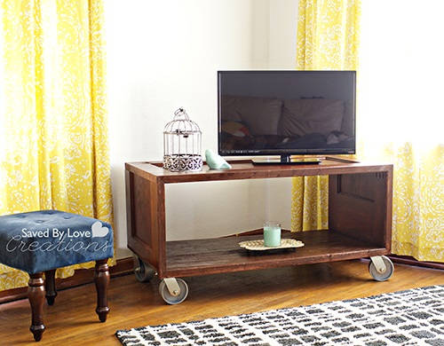 Repurposed Door TV Console