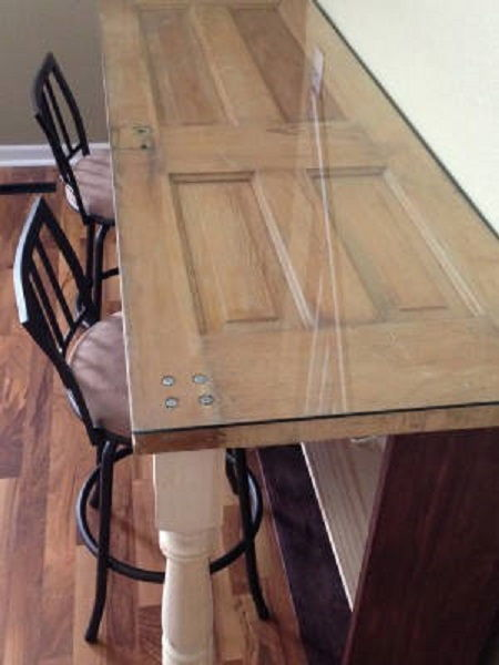 Recycle an Old Door into New Desk