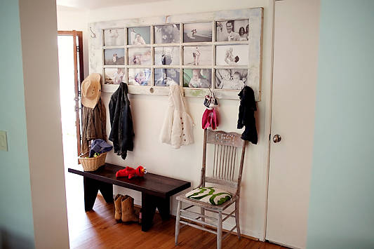 Old Door Picture Frame and Coat Rack