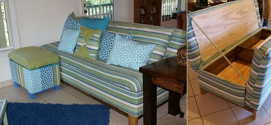 Beachy Sofa Storage