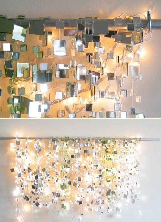 Winter Sparkle Mirror Garland and White Lights