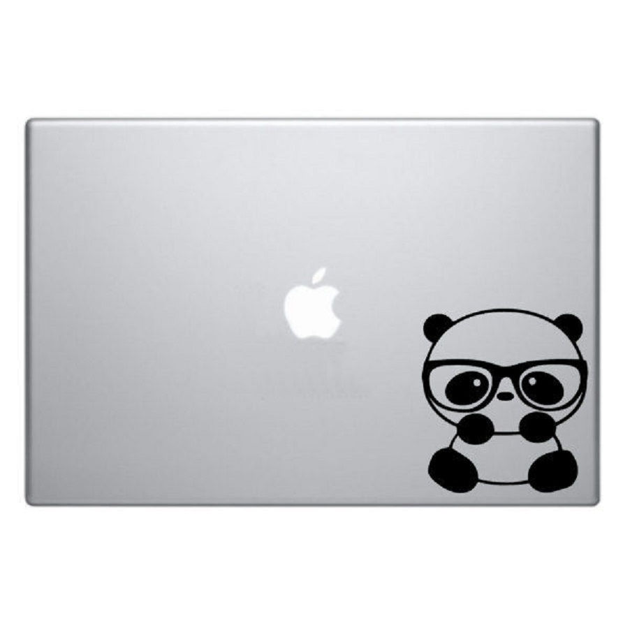 Nerdy Panda Macbook Decal