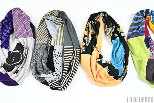 Upcycled Infinity Scarves