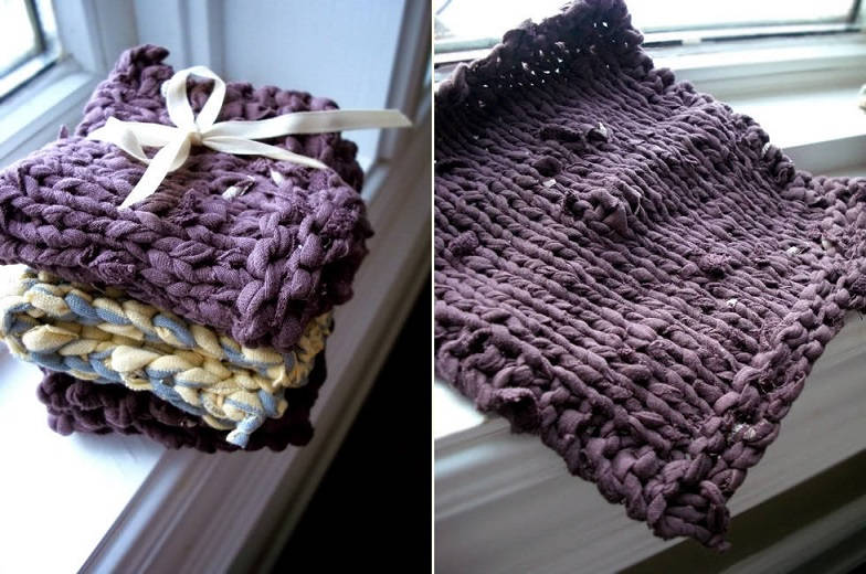 Recycled T-Shirt Dishcloths