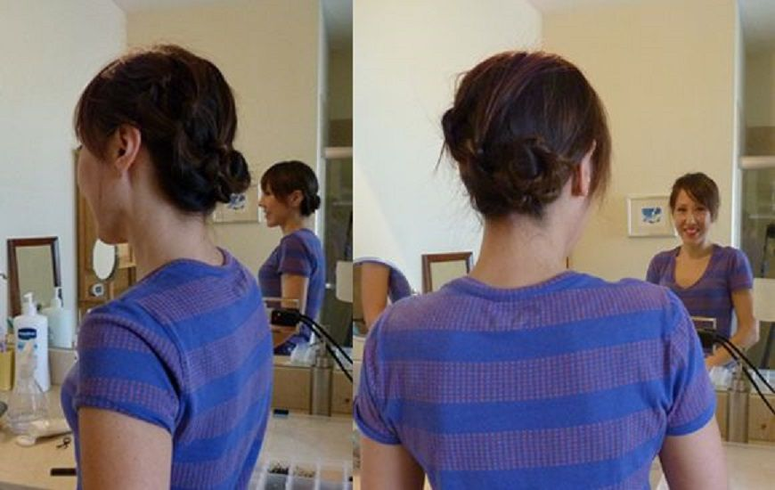 Side Bun with Knots