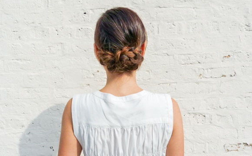 Soft Braided Updo