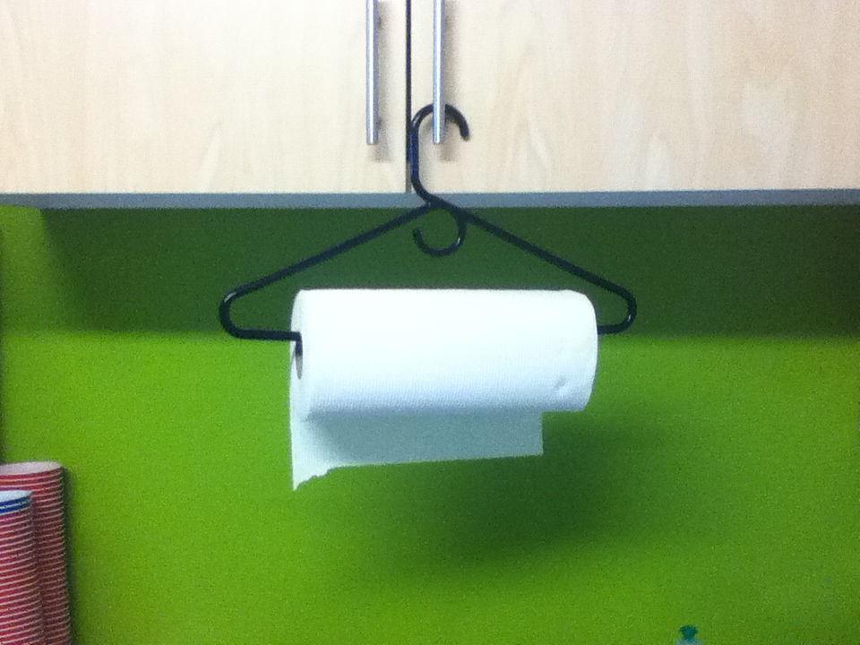 Easy Paper Towel Hanger
