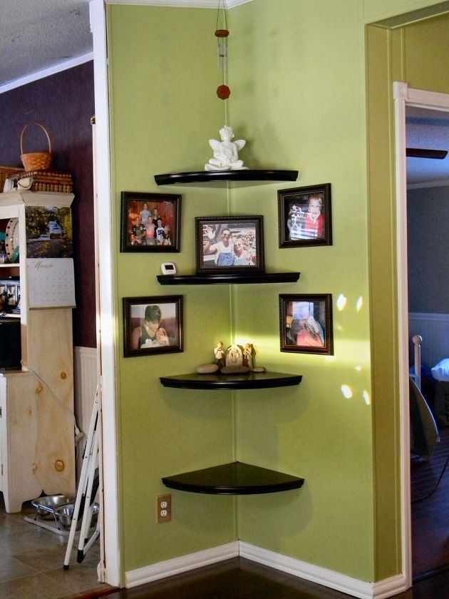 Install a Corner Rounded Shelves