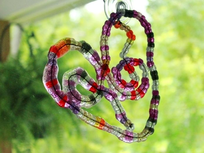 Melted Bead Free Form Hearts