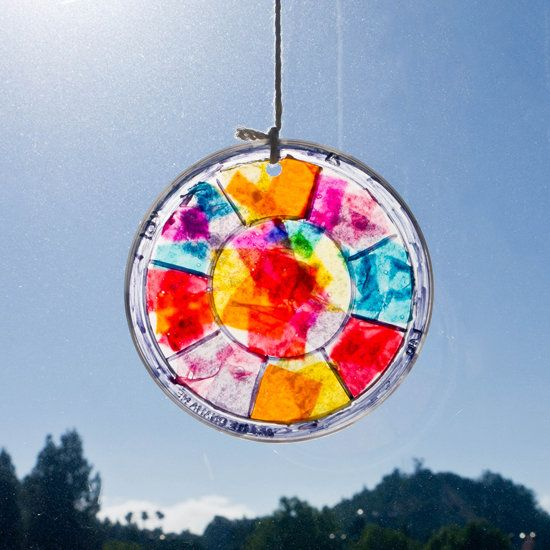 Easy Stained Glass Window Hanging