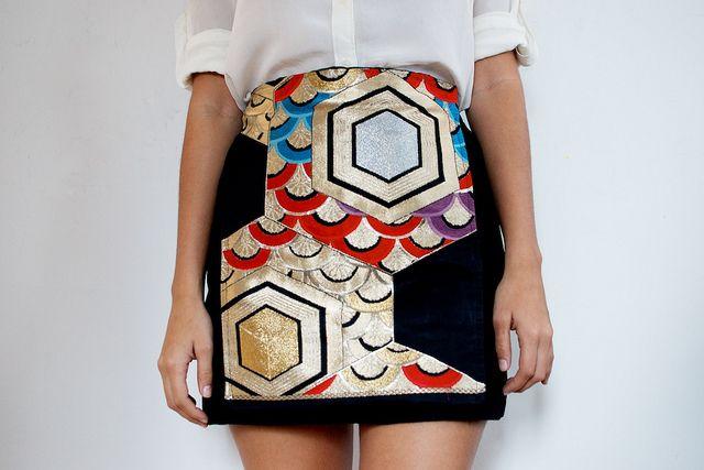 Japanese OBI Panel Skirt