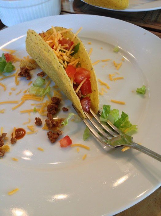 Use a fork to keep your taco upright
