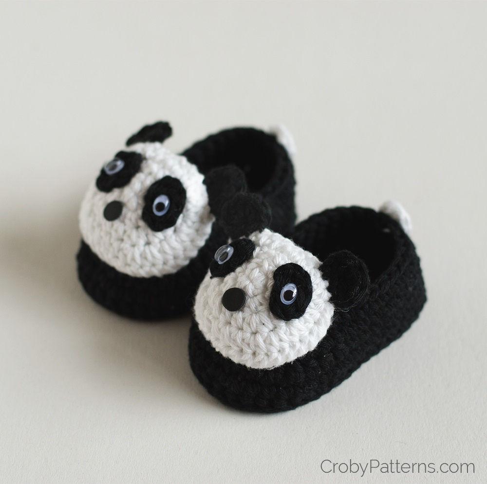 Panda Baby Booties