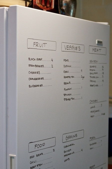 Use a dry erase marker on your fridge door