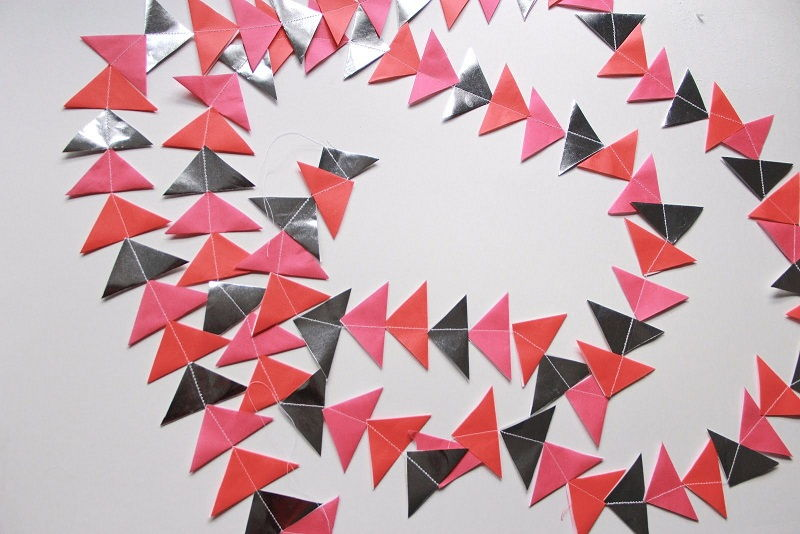 Paper Triangles Garland