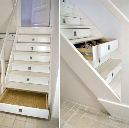 50 super smart diy storage solutions to keep your home for Diy staircase drawers