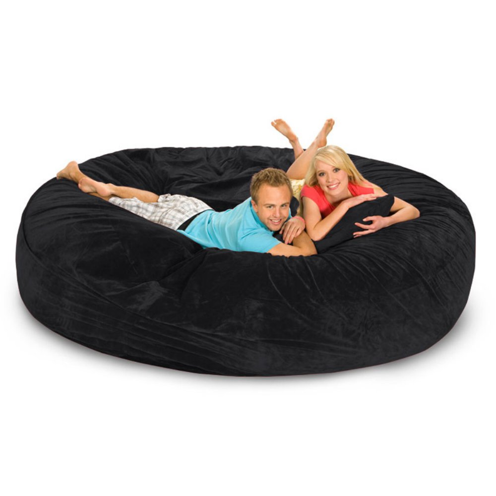 Microsuede Foam Bean Bag Sofa