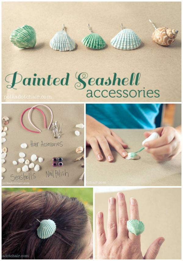 Painted Seashell Accessories