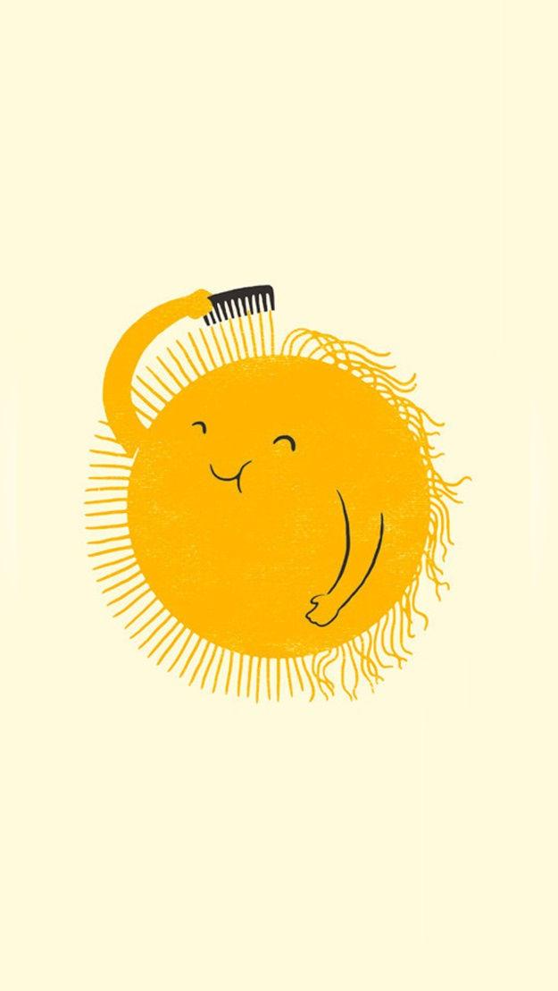 Sun Combing Hair Flat