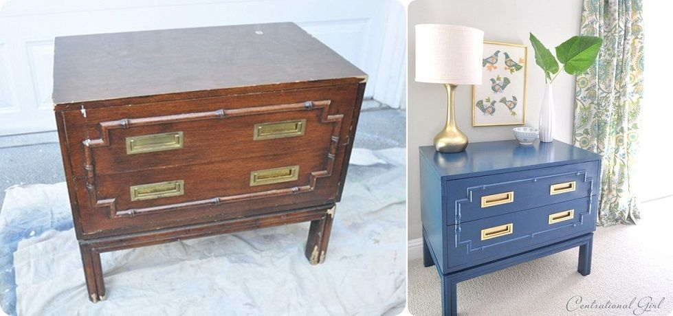 Faux Bamboo Chest Makeover