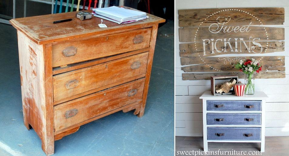 diy furniture makeover full tutorial. Antique Dresser With Denim Treatment Diy Furniture Makeover Full Tutorial U