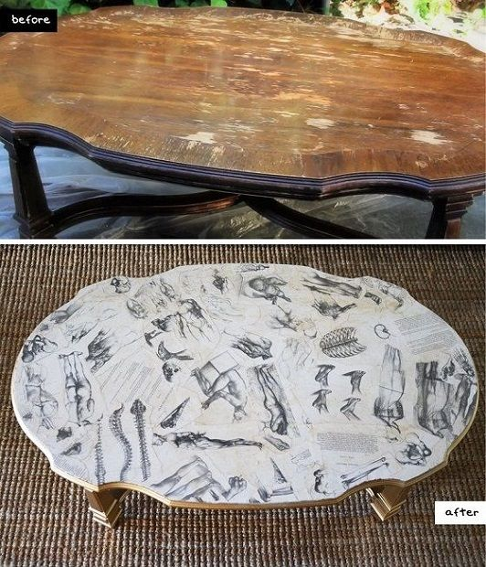 Decoupaged Coffee Table
