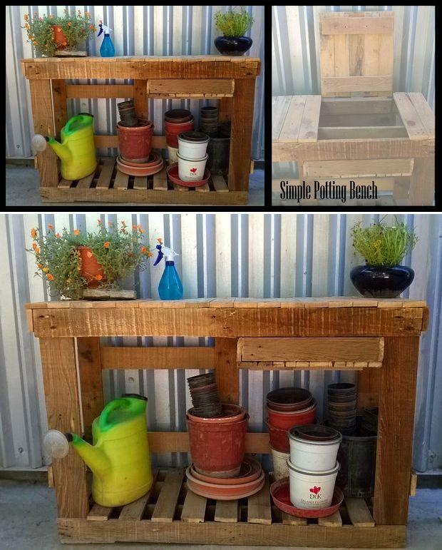 Potting Bench with Storage