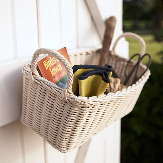 Simple Wicker Basket Organizer