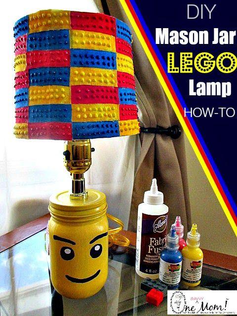 Mason Jar LEGO Lamp