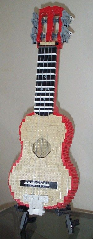 Playable LEGO Ukulele