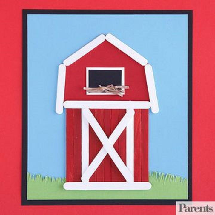 Barn These Easy To Make Wood Crafts Will Have Both You And Your Little Ones Creating Animals Out Of Wooden Clothespins Train Tracks Popsicle