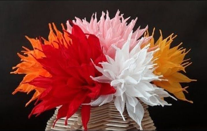 Twisted Paper Flowers