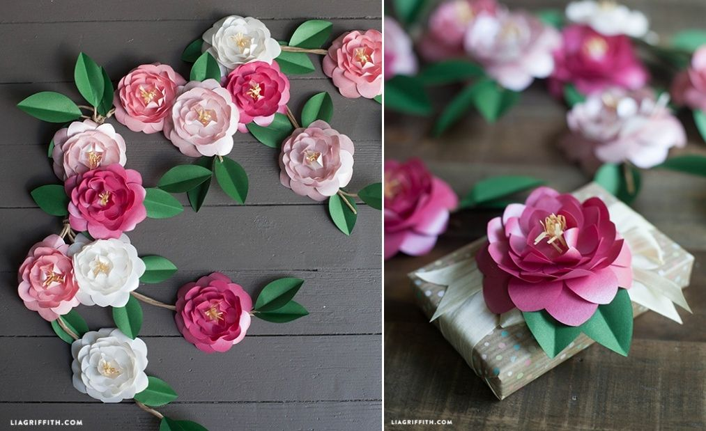 Metallic Paper Camellias