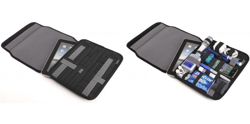 Sleeve that snugly holds your tablet and accessories in place